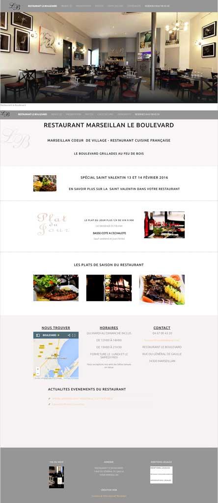 création site restaurant montpellier