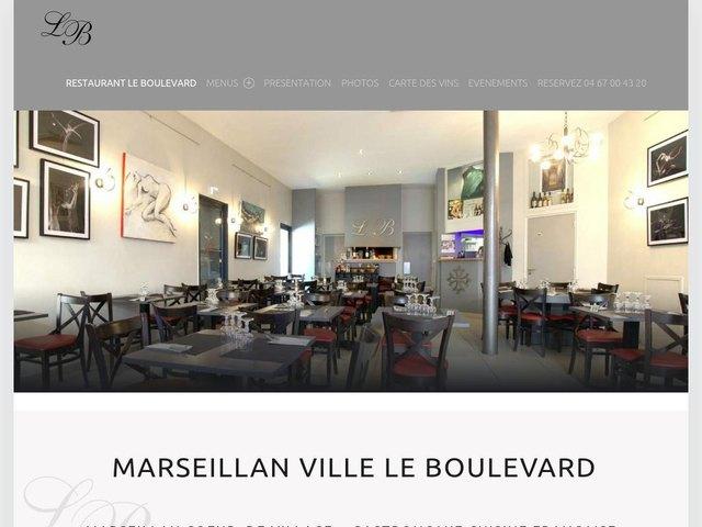 Création de site de restaurant Le boulevard Marseillan
