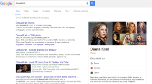 page d'artiste google