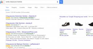 page produit google