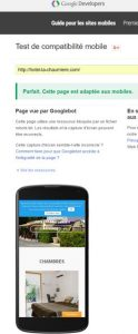 Création site Création site internet Hotel Restaurant Marseillan Plage 34450 version Mobile