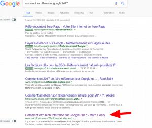 Référencement Google première page