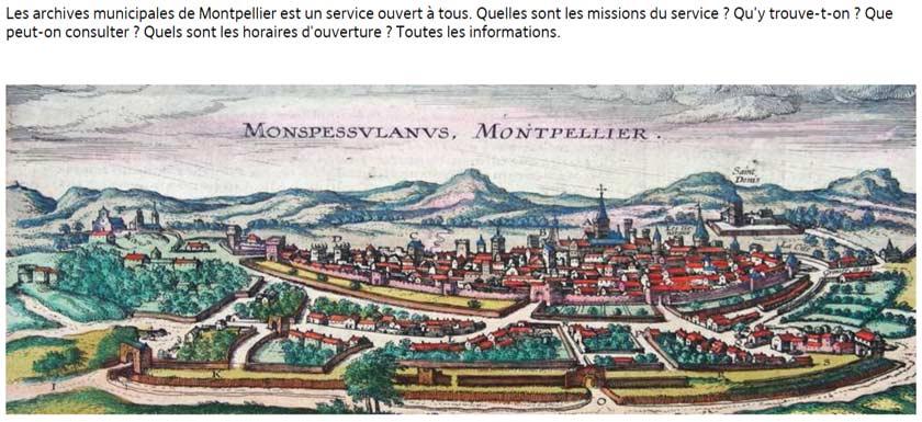Montpellier site internet d'archive