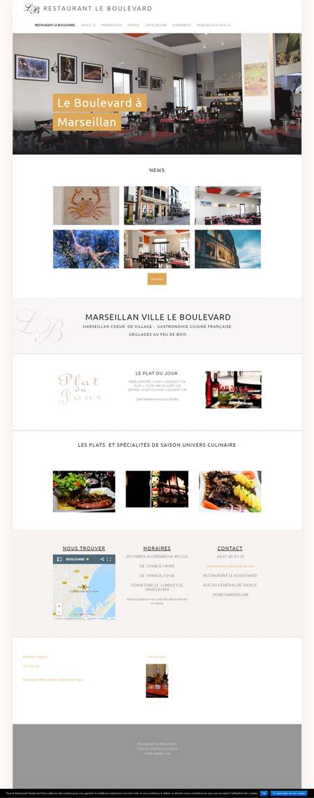 création site restaurant internet Montpellier