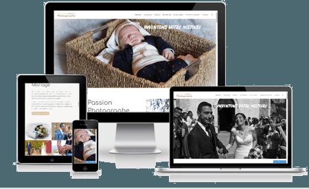 création site internet site de photographe