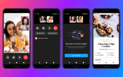 Nouveau sur Messenger le partage d'écran